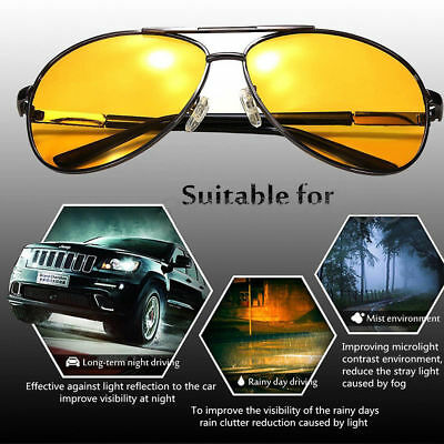 Night Sight Driving Glasses HD Sunglasses Anti Glare Night Vision