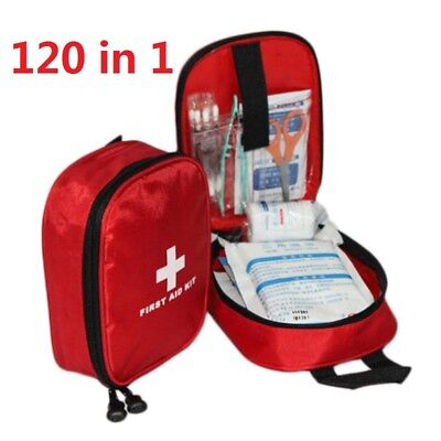 120 Piece First Aid Kit Bag Medical Emergency Kit Travel Car Taxi Home Workplace