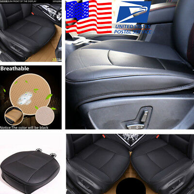 USA Stock Black PU Leather Deluxe Car Front Seat Cover Protector Cushion Sedan