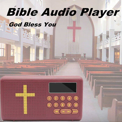 Bible Audio Player Electronic English Version Talking Listen Gift Rechargeable