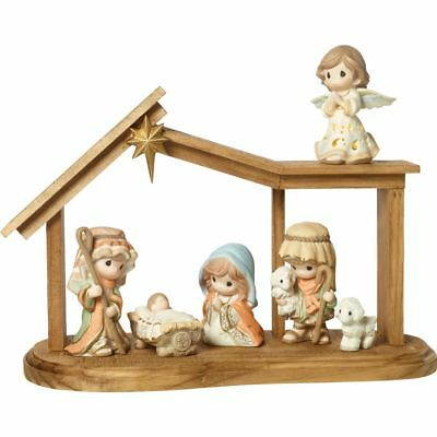 Precious Moments Come Let Us Adore Him Nativity Figurines ~ NEW IN BOX CUTE