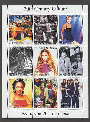 20th Century Culture Madonna Lauryn Hill Rat Pack Mnh Stamp Sheetlet