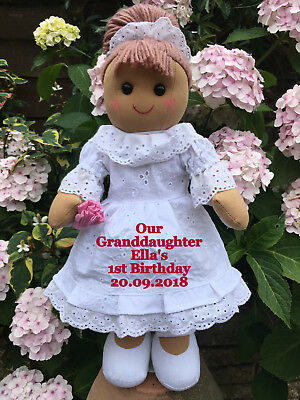 Personalised Rag Doll Goddaughter Granddaughter Daughter Niece Birthday Gift 16