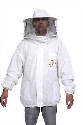 3 Layer Beekeeping Jacket Bee Outfit hat  Ventilated protective Round / veil