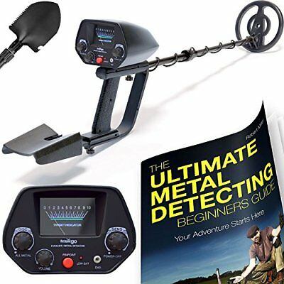 Waterproof Metal Detector With Pinpointer Shovel and Metal Detecting Guide-NEW!