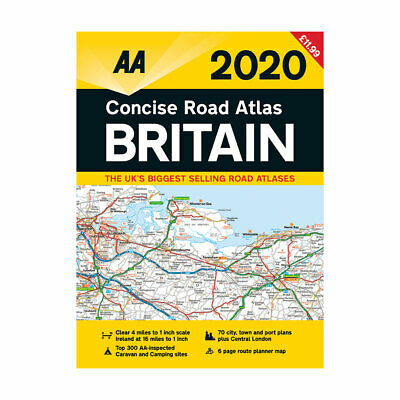 AA Concise Road Atlas Map Britain 2019 Spiral Bound Latest Edition (79586)