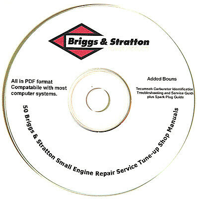Briggs And Stratton  Service Repair Manuals  Small Engine Mower Repair Guide Cd