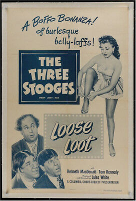 Loose Loot Three Stooges Original Vintage Movie Film Poster 1953