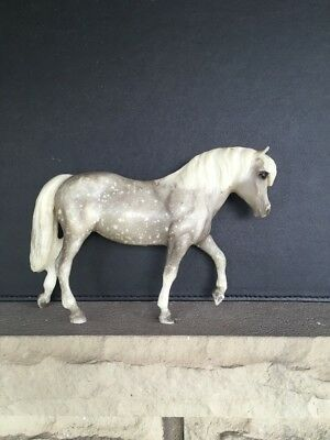 Vintage Breyer Molding Co. Grey White Spotted Horse - Made In USA 6""