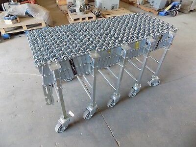 "+New Nestaflex 376Fl Expandable Skate Wheel Conveyor 5-10' Long 24""wide 34""tall"