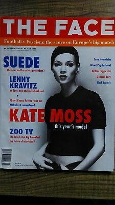 The Face Magazine No 54 March 1993 -- Kate Moss, Keanu Reeves, Suede