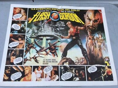 FLASH GORDON Original 21X16 Movie Poster SAM JONES 1980 Vintage Mexican Rare