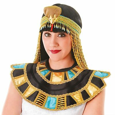 Egyptian Collar Egypt Queen Roman Ancient Cleopatra Gold Fancy Dress Costume