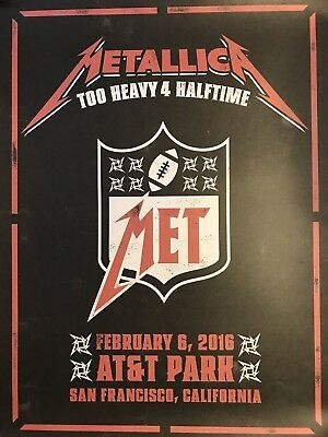 METALLICA /& Cage The Elephant CBS The Night Before Concert Poster AT/&T 2//6//2016