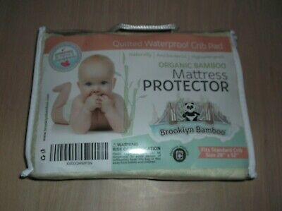 Brooklyn Bamboo Mattress Protector Organic Bamboo Quilted Waterproof Crib Pad
