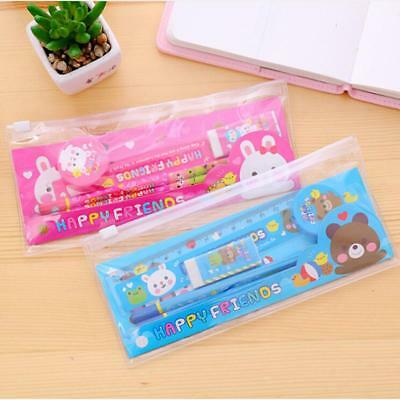 Hot Kids School Study Stationery Set Pencil Eraser Sharpener Supplies New J