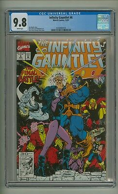 Infinity Gauntlet #6 (CGC 9.8) White pages; Thanos; Avengers; Starlin (c#20367)