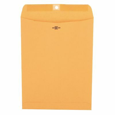"Universal Clasp Envelope, Side Seam, 28lb, 9"" x 12"", Kraft, 100ct."
