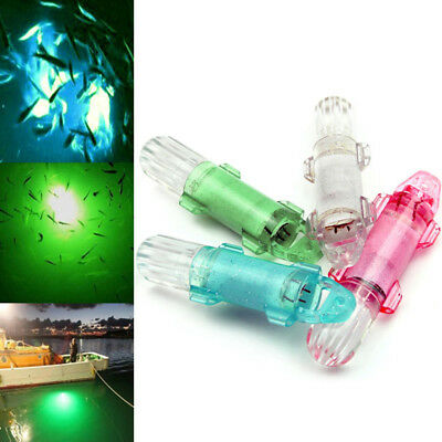 Drop Underwater Portable Fishing Squid Bass Spoon Flash Lamp LED Lure Light
