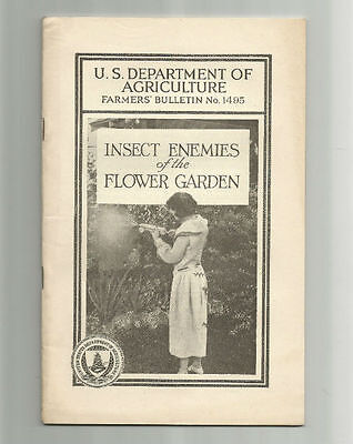 Insect Enemies of the Flower Garden 1927 USDA Farmers Bulletin No. 1495