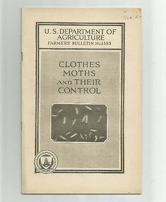 Clothes Moths and Their Control 1932 USDA Farmers Bulletin No. 1353 by E.A. Back