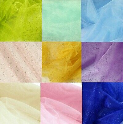 "GLITTER Tulle Fabric Bolt 54""X10yds Wedding Bridal Party Decoration Tutu Craft"