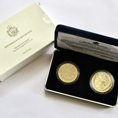Republic of San Marino 2002 Silver 5 & 10 Euro Proof Set - Oldest Country World