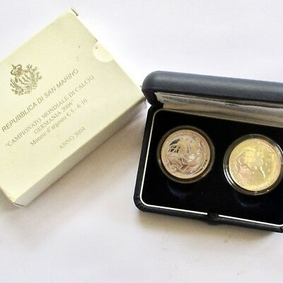 Republic of San Marino 2004 Silver 5 & 10 Euro Proof Set - Oldest Country World