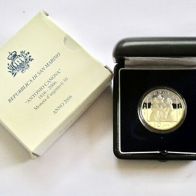 Republic of San Marino 2006 Silver 10 Euro Proof - Oldest Country in the World