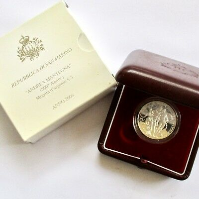 Republic of San Marino 2006 Silver 5 Euro Proof - Oldest Country in the World