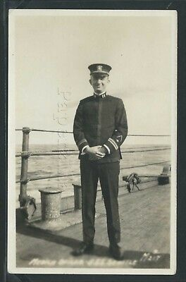 U.S. NAVY OFFICER LIEUTENANT c.20 on USS SEATTLE ACR-11 former U.S.S WASHINGTON
