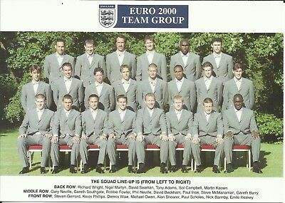 Euro 2000 ENGLAND Squad, Official Colour Team Photograph, MINT!