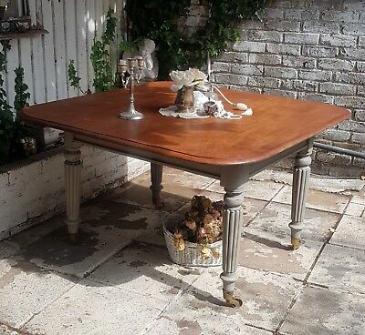 Shabby Chic Victorian Vintage Dining Table in Annie Sloan, We Deliver !