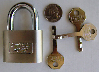 High Security Padlock with 3 (Pick Proof) Security Keys, Hardened Cut Resistant
