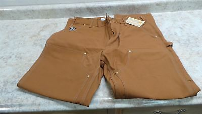 Carhartt B01 BRN 36 32 36 In Waist 32 In L Firm Hand Double Front Work Pants