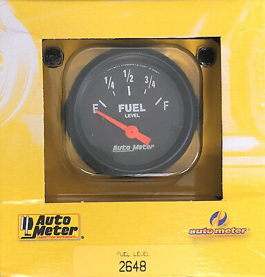 Auto Meter 2648 Z-Series Electric Fuel Level Gauge 0-30 ohm GM 1965 and older