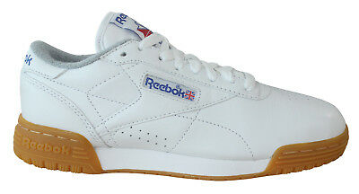 f50d40b3819 Reebok Classic Exofit Lo R12 Mens Trainers Lace Up White Leather M45030 U118
