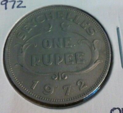 1972 Seychelles One Rupee Coin - KM#13    (#IN1281)