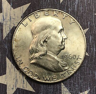 1960-D Franklin Silver Half Dollar Collector Coin For Your Collection.