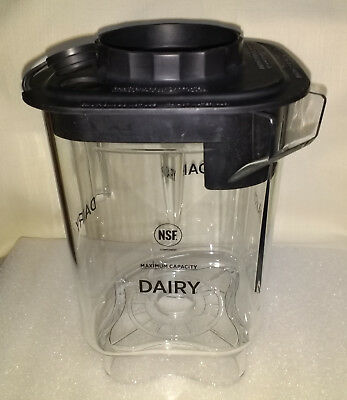 Vitamix Blending Station® Advance Container Jar Dairy with black lid NEW 48 oz