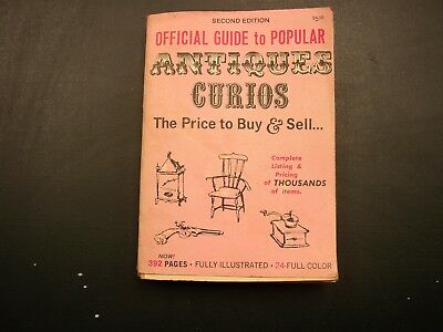 1970 Official Price Guide To Popular ANTIQUES Curios 2nd Edition