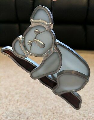 Tiffany Stained Glass Koala Sun Catcher Collectors Society Hand Crafted