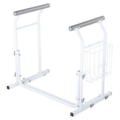 U Shaped Metal Toilet Safety Rail Elderly Handicap Assist Frame Support Grip Bar