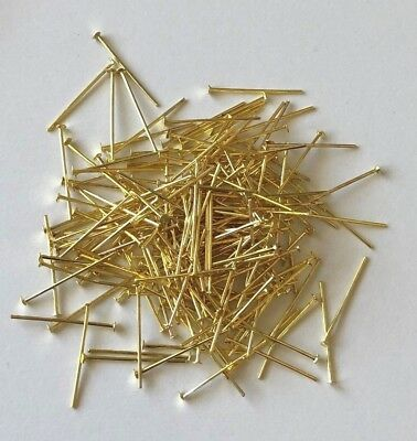22Gms Of Gold Coloured 22Mm Head Pins