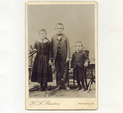 c1891 Cab Card of Schwanke Family Siblings, Cornelius & Forest Grove area, OR