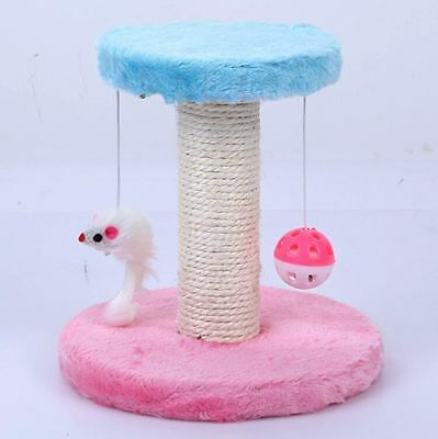 Cat Scratch Play Post Pet Cat Tree Scratching With Toy Ball Pole Climbing Home