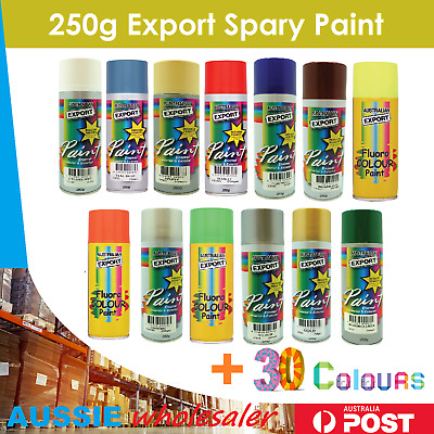 Quality Australian Export Spray Paint Cans 250gm Fast Shipping 34 colours