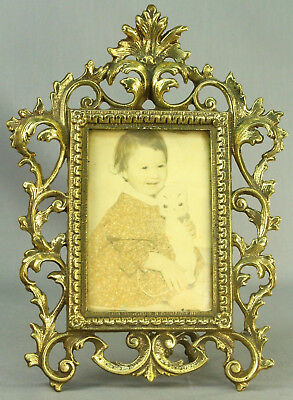 ! Antique French Gilt Bronze Dore' ROCOCO Style Ornate Picture Frame
