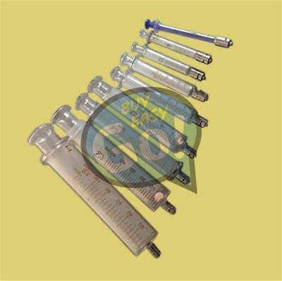 Reusable Glass Injector Syringe From 1ml to 100ml Glass Syringe Luer Lock Head