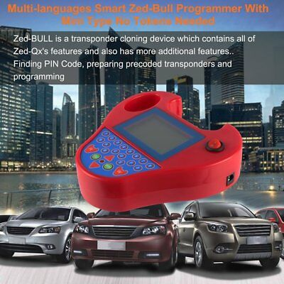 Multi-languages Smart Zed-Bull Programmer With Mini Type No Tokens Needed TOP